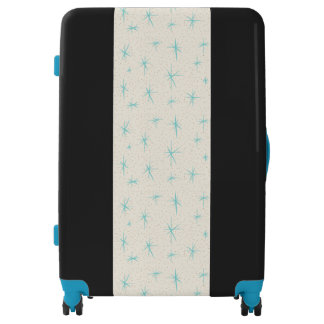 Space Age Turquoise Starbursts Luggage