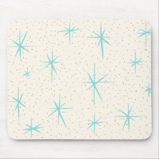 Space Age Turquoise Starbursts Mousepad
