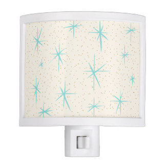 Space Age Turquoise Starbursts Night Light