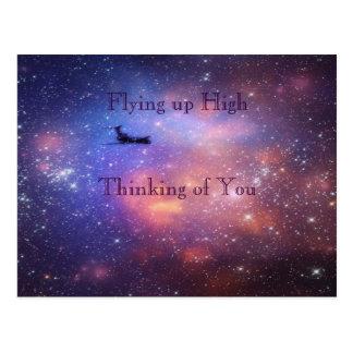 Space Airplane Postcard