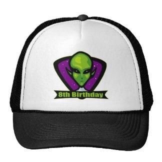 Space Alien 8th Birthday Gifts Trucker Hat