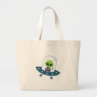 Space Alien Canvas Bag