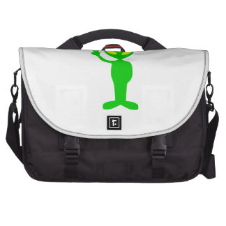 Space Alien Flashing the Peace Sign Bag For Laptop