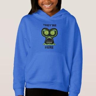 Space Alien Girls' Fleece Pullover Hoodie