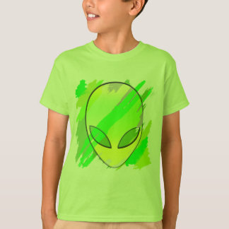 Space Alien Head Abstract T-Shirt