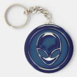 Space Alien Head Keychain