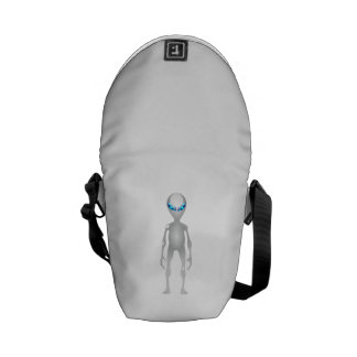 Space Alien Messenger Bag