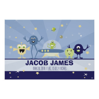 Space Alien Nursery Wall art