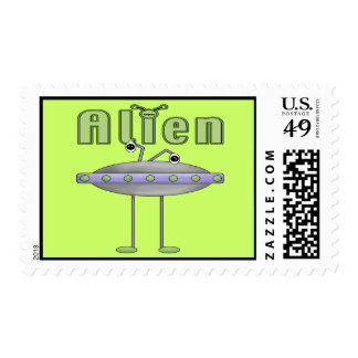 Space Alien Stamps