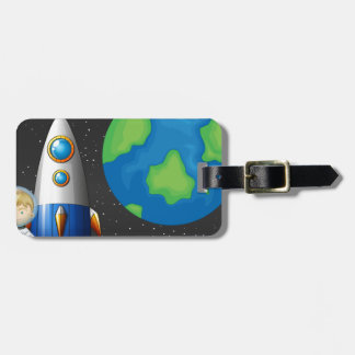 Space and astronaunt bag tag