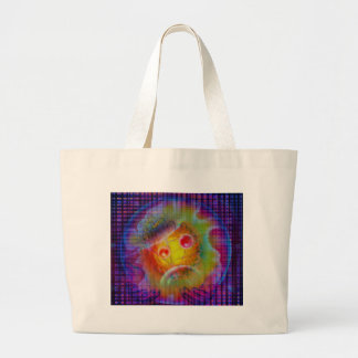 Space and time large tote bag