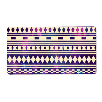 Space andes aztec personalized shipping label