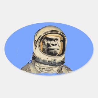 Space ape   Gorila espacial Raum-Affe Singe de l'e Sticker