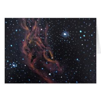 Space Art Astronomical Painting- California Nebula Card