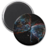 Space Art Butterfly Nebula Astronomical Painting Refrigerator Magnet