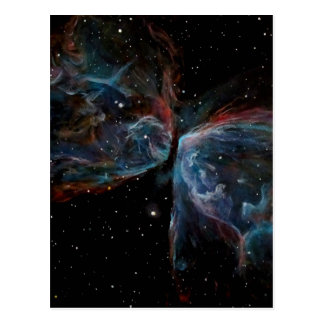 Space Art Butterfly Nebula Astronomical Painting Postcard