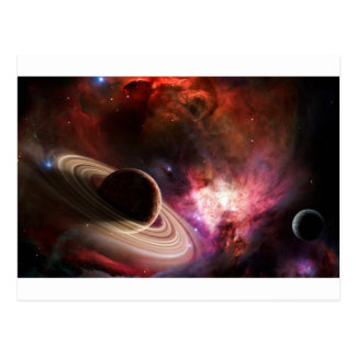 Space art Nebula planet Postcard