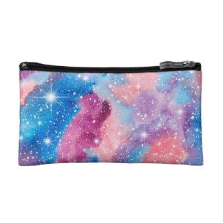 Space Art Watercolor Galaxy Cosmetic Bag