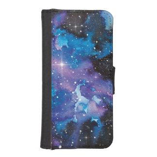 Space Art Watercolor Galaxy iPhone SE/5/5s Wallet