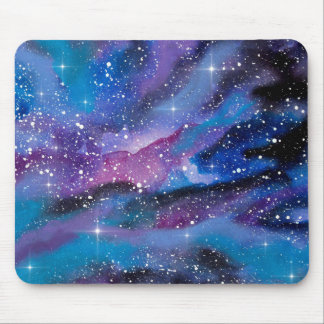 Space Art Watercolor Galaxy Mouse Pad