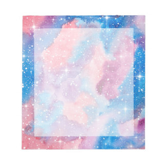 Space Art Watercolor Galaxy Note Pad