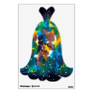 Space Art Watercolor Galaxy Wall Graphic