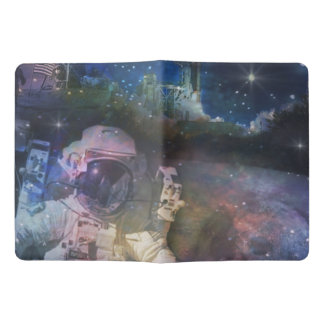 Space - Astronaut, Liftoff & Galaxy Collage Extra Large Moleskine Notebook