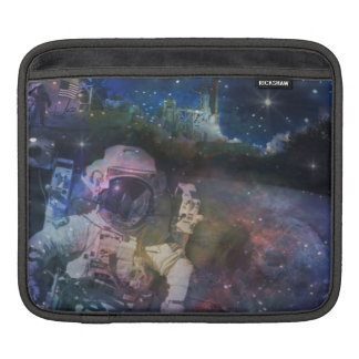Space - Astronaut, Liftoff & Galaxy Collage Sleeve For iPads