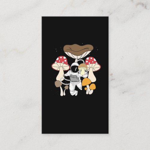Space Astronaut Psychedelic Mushrooms Business Card