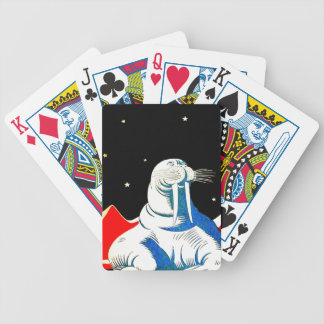 Space Astronaut Walrus Bicycle Poker Deck