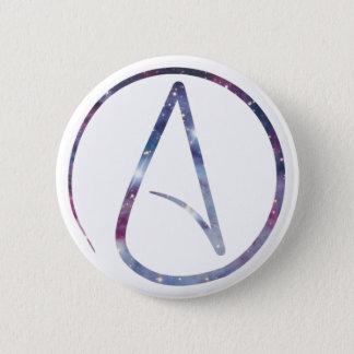 Space Atheist Symbol Button