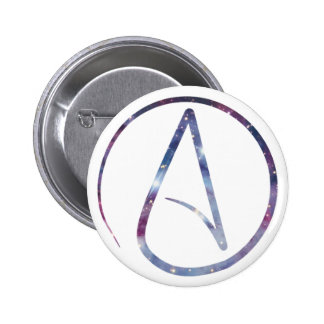 Space Atheist Symbol Button