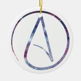 Space Atheist Symbol Ceramic Ornament
