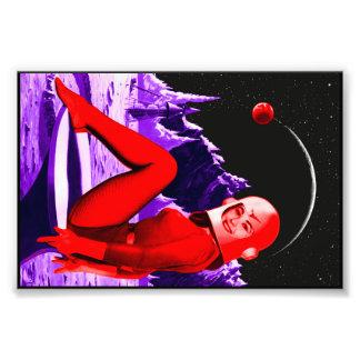 Space Babe Photo Print