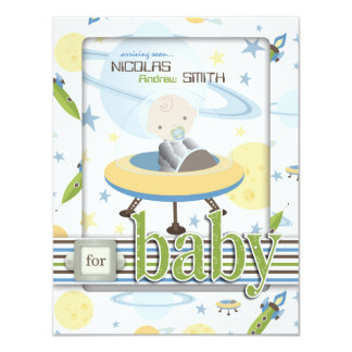 Space Baby Advice Card 2 Personalized Announcements
