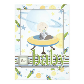 """Space Baby Card 2 5"""" X 7"""" Invitation Card"""