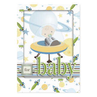Space Baby Gift Tag Large Business Card