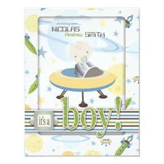 "Space Baby Invitation Card 2B 4.25"" X 5.5"" Invitation Card"