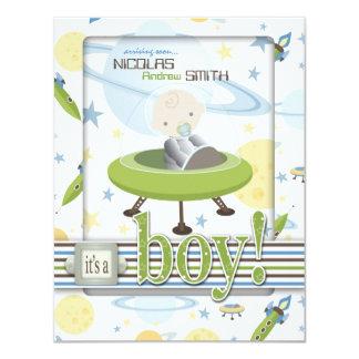 Space Baby Invitation Card B2