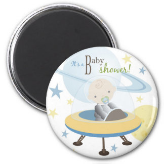 Space Baby Invite Magnet