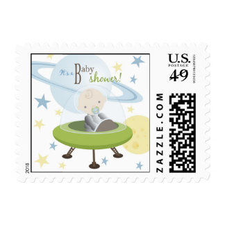Space Baby Invite Stamp 2