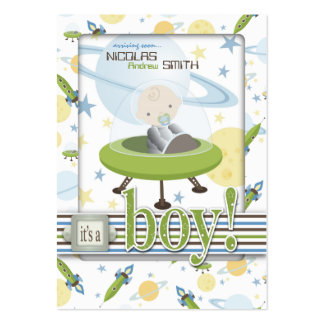 Space Baby Reminder Notecard B Large Business Card