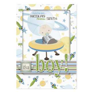 Space Baby Reminder Notecard Large Business Card