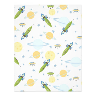 Space Baby Scrapbook Paper Dual-sided Flyers