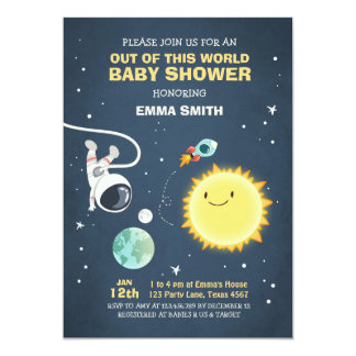 Space Baby Shower Invitation Out of this world