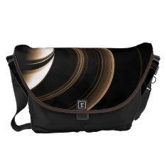 Space Bags Saturn Messenger Bag at Zazzle