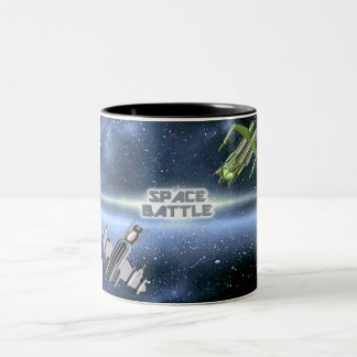 Space Battle 1 Two-Tone Coffee Mug