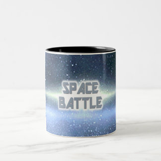 Space Battle 3 Two-Tone Coffee Mug