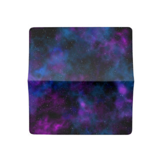 Space beautiful galaxy night starry  image checkbook cover
