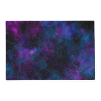 Space beautiful galaxy night starry  image placemat